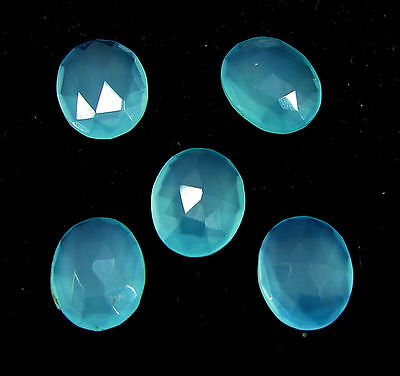 9.45 Ct Natural Blue Chalcedony Loose Faceted Gemstone Lot of 5 Pcs - 10845