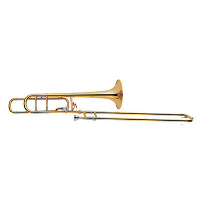 Tenor B Flat F Trombone Bb/F Key Brass Instrument With Case