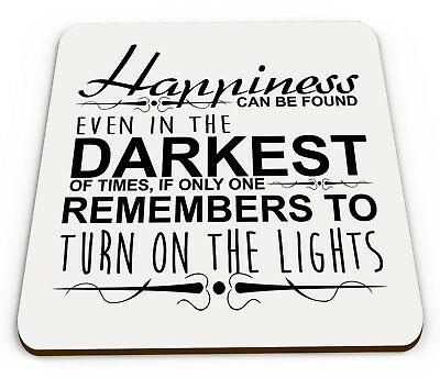 Happiness Can Be Found In The Darkest Of Times Funny Glossy Gift Coaster