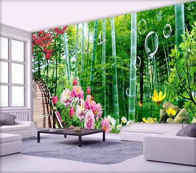 Thick Durable Woods 3D Full Wall Mural Photo Wallpaper Printing Home Kids Decor