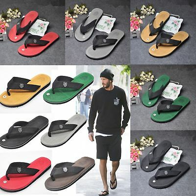 Mens Boys Flip Sandals Summer Flat Beach Flop Home Casual Shoes Stylish Slippers