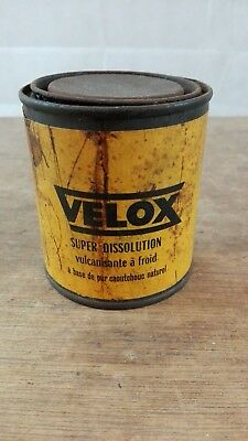 Boite VELOX ancienne/collection cyclo automobilia bidon/garage vintage