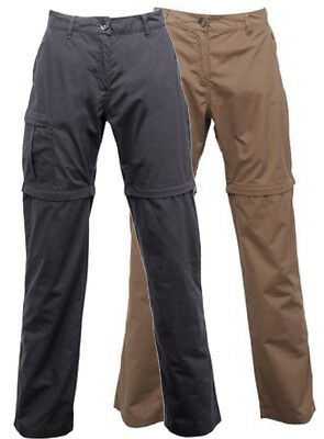 Regatta Crossfell II Womens Cotton Water Repel Zip Off Trousers