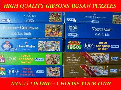 Gibsons 500 piece Jigsaw Puzzles - CHOOSE YOUR OWN : MULTI LISTING