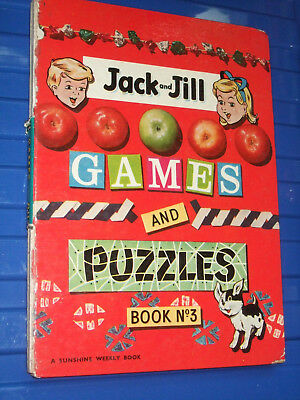 JACK AND JILL 1962 GAMES & PUZZLES No 3  ANNUAL VINTAGE CHILDREN'S BOOK CHILDS