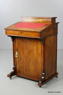 Antique Walnut Davenport Ladies Writing Desk