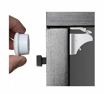 A.N.S Baby Safety Magnetic Cabinet Locks - No Tools Or Screws Needed (8 locks...