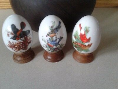 Avon Lot Of 3 Vintage Egg's The Bird collection