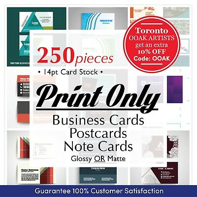 PRINT ONLY // Business Cards, PostCards, Note Cards //250 pcs, FREE shipping