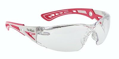 Bolle RUSH+ Small Pink Anti-Fog Scratch Safety Spectacles Glasses - Clear Lens