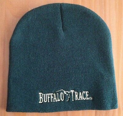 maybe new/unused: BUFFALO TRACE skull cap beanie hat, dark green