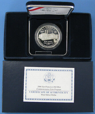 2006 Old San Francisco Mint Commemorative Proof Silver Dollar with Box & COA