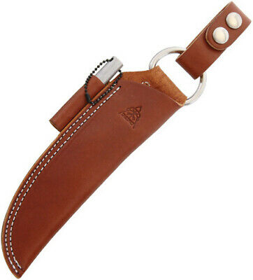TOPS Bushcraft Sheath Brown Leather Knife TPSHLBUSHBRN Fits BOB (Brothers of Bus