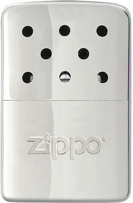 "Zippo Hand Warmer Chrome 6 Hour Knife 40321 Measures 2"" x 2 3/4"". Chrome finish"