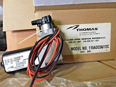 NEW THOMAS 115ADC56/12 Piston Compressor 1/10hp 12VDC Truck RV Bus Coach-AIR