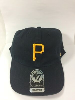 best service b17a6 08a1f ... italy new 47 brand mlb home clean up adjustable cap pittsburgh pirates  black 31d70 31911