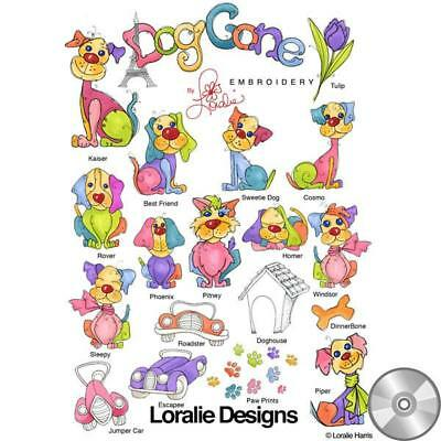Dog Gone! Embroidery Machine Design Collection | CD