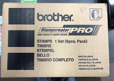 Brother PR1850R6P pre-inked Rubber Stamp (pack of 6) Red: for Stampcreator PRO