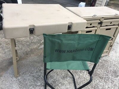 Hardigg FIELD DESK US Military Army Surplus Tent Table Case Container Chair & MILITARY SURPLUS Field Desk Plus Chair Tent Table Food Camping ...