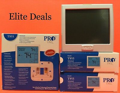 New PRO1 IAQ T955 Universal 3H/2C HP 2H/2C Conventional Touchscreen Thermostat