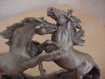 Franklin Mint Wild Stallions Pewter Figurine Don Polland Horses