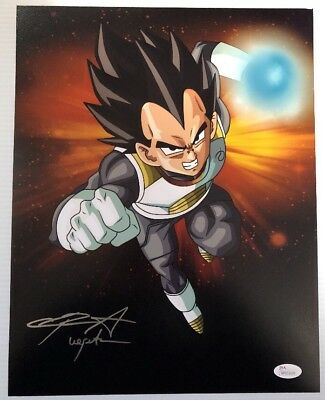Chris Sabat Signed Autographed 11x14  Photo Dragon Ball Z Vegeta JSA COA 31