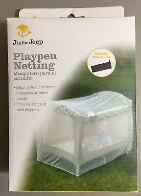 J IS FOR JEEP Playpen Netting, Tight mesh provides ultra protection Includes bag