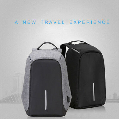Anti-theft Backpack Business Laptop Travel Bag with USB Charging Port & Cable