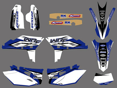Motorcycle MX Graphics Stickers Decals For YAMAHA WR450F WRF450 2012 2013 2014
