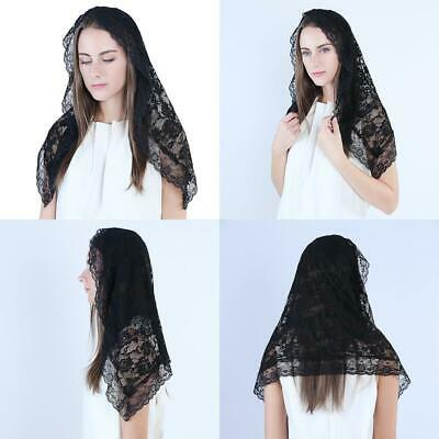 Veil Lace Mantilla Catholic Church Chapel Head Covering Latin Mass Funeral Cover