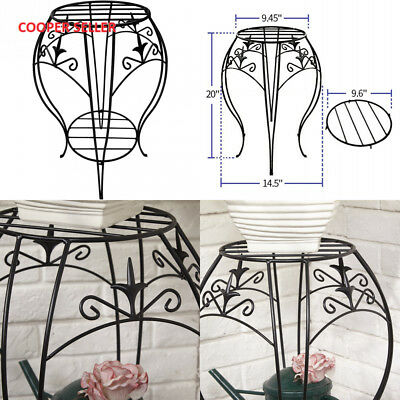 Amagabeli Two Tiers Metal Potted Plant Stand 20 inch Rustproof Decorative...