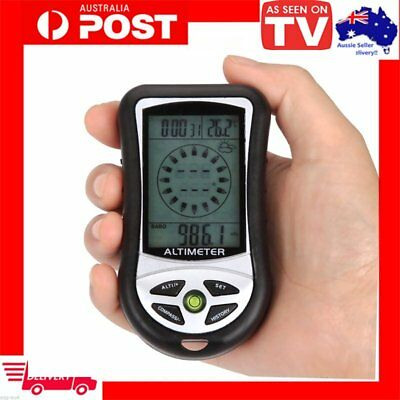 8 in 1 Digital LCD Compass Altimeter Barometer Thermo Temperature Calendar LE