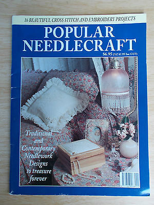 Popular Needlecraft ~16 Embroidery & Cross Stitch Projects~Tea Cosy~Goldwork...
