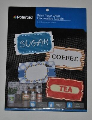 polaroid print your own decorative labels 240 pk peel and stick