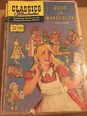 Classics Illustrated #49 . Alice In Wonderland 1968