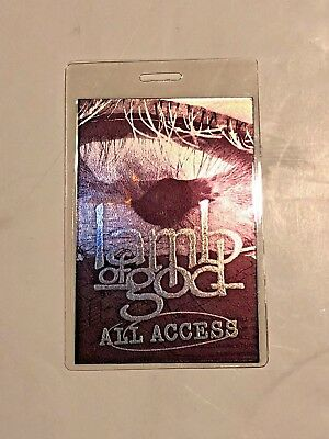 Lamb of God All Access Backstage Pass Tour Laminate 2012 USA Rare