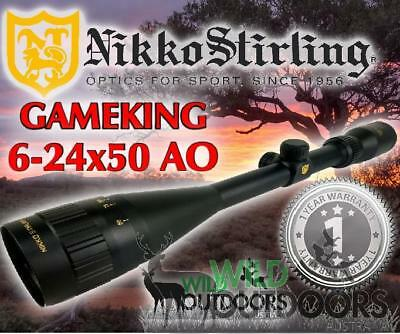 Nikko Stirling - Rifle Scope - Game King - 6-24x50AO - Half Mil Dot Reticle