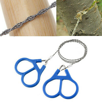 Stainless Steel Ring Wire Camping Saw Rope Outdoor Survival Emergency Tools· NIB