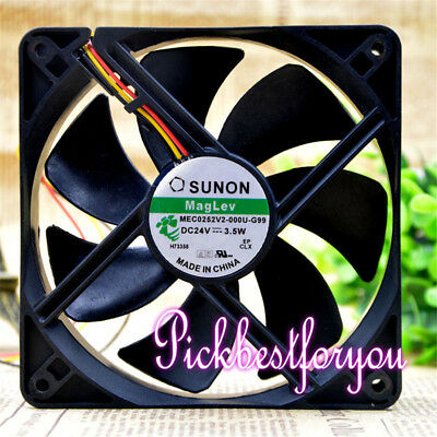 SUNON MEC0252V2-000U-G99 24V 3.5W 12025 Inverter cooling fan #MS08 QL
