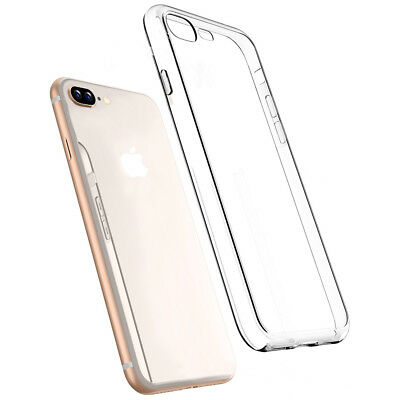 For iPhone 7 Plus Slim Silicone Ultra-thin Back Clear Case TPU Gel Skin Cover