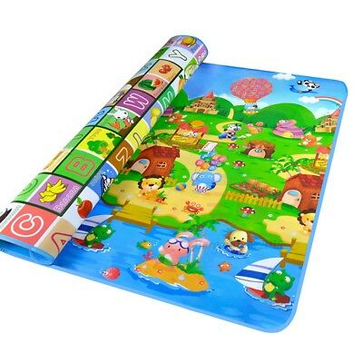 2mx1.8m XXL Baby Kids Floor Play Mat Rug Picnic Cushion Crawling Mat Waterproof