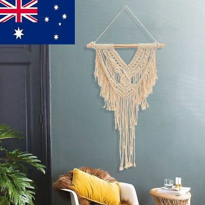 AU Retro Handmade Tassel Macrame Wall Hanging Tapestry BOHO Tassel Party Decor