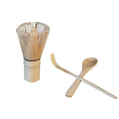 Baoblaze Bamboo Chasen Matcha Whisk Tea Spoon Scoop Tea Clip with Holder Set