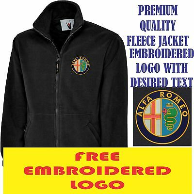 Embroidered Alfa Romeo Logo Fleece Jacket, Workwear Uniform Sports Top