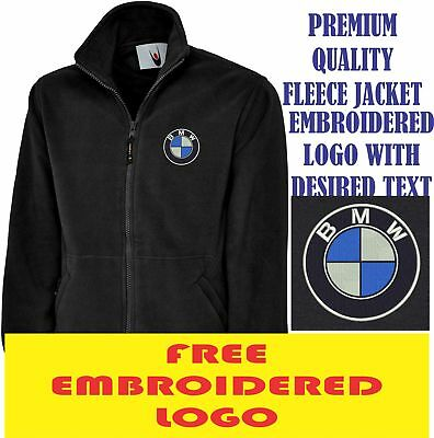 Embroidered Bmw Logo Fleece Jacket, Workwear Uniform Bmw M Sports Top