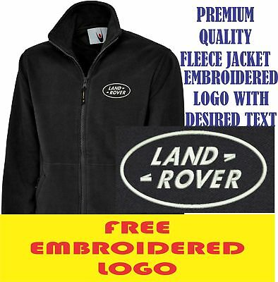 Embroidered Land Rover Logo Fleece Jacket, Workwear Uniform Land Rover SUV Top