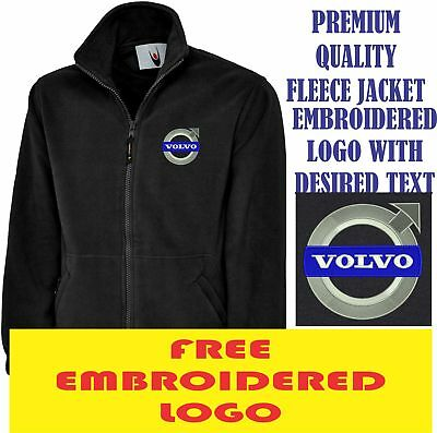 Embroidered Volvo Logo Fleece Jacket, Workwear Uniform Volvo Sports Top