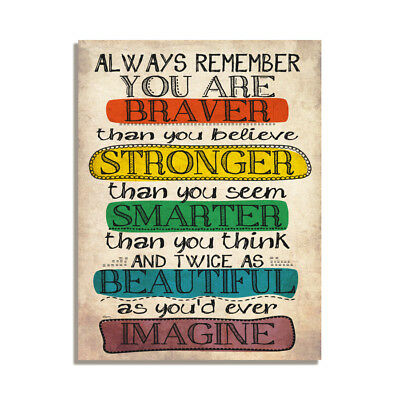You Are Braver Than You Think Motivational Cute Gift Fridge Magnet 4x3 inch