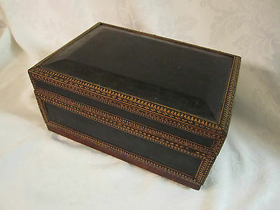 Decorative Old Wood Box  African ?  Eastern European ? unique & interesting