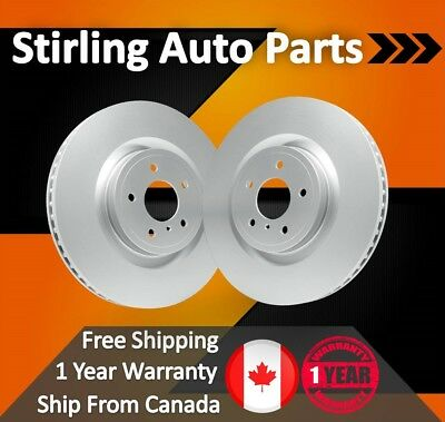2008 2009 2010 Ford E-250 Coated Disc Brake Rotors Front Pair